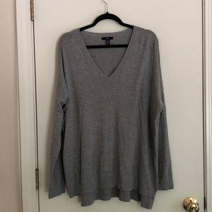 Gray Long-Sleeve Sweater, Gap, Size 2X